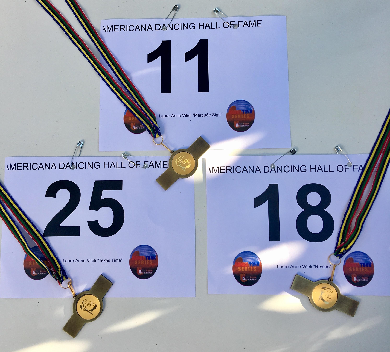 Médailles d'OR pour les 3 chorées TEXAS TIME - MARQUEE SIGN - RESTART