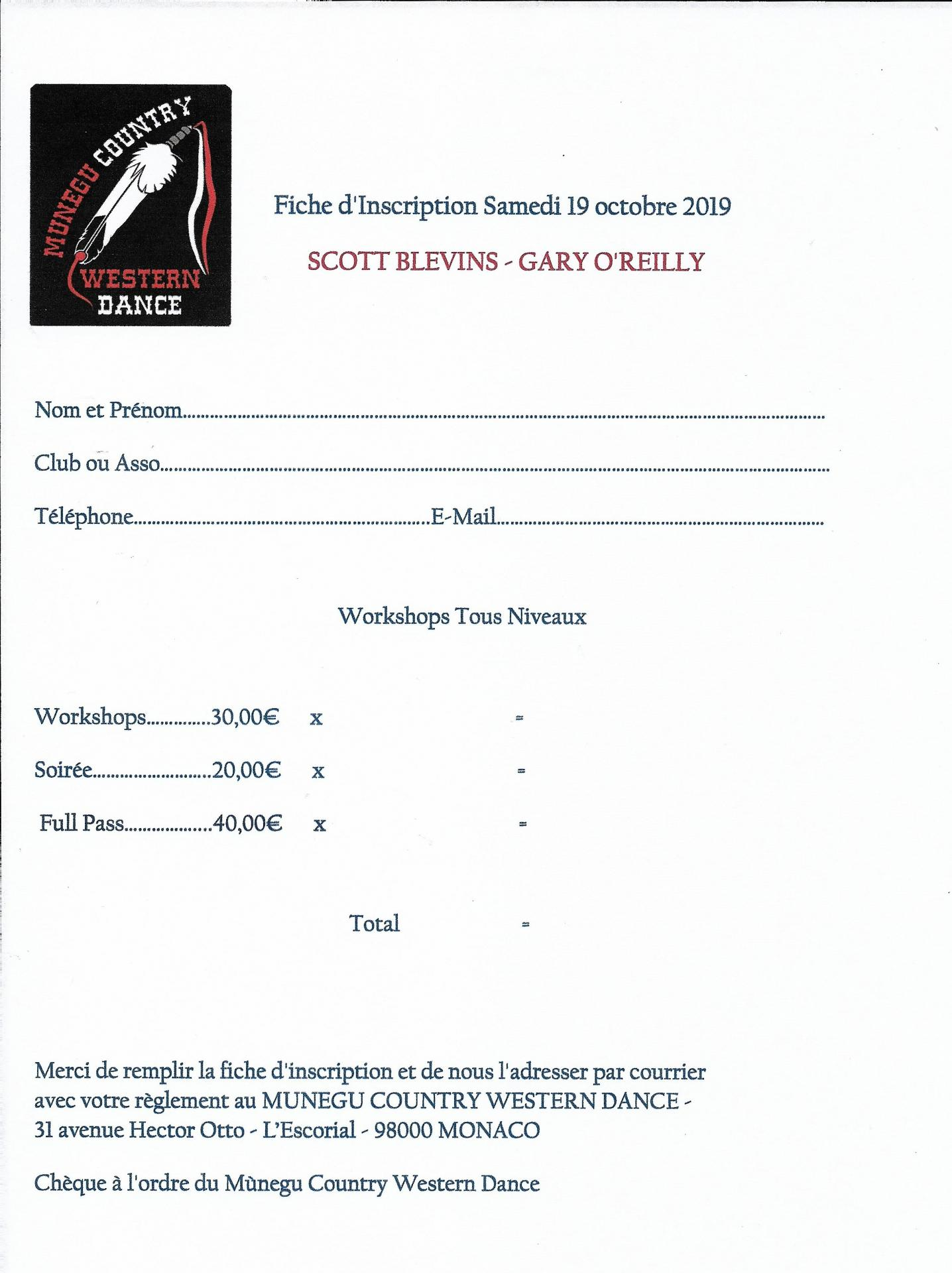 Fiche inscription event 2019