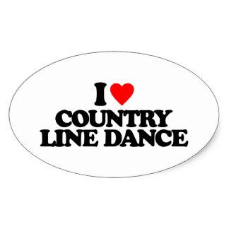 I love country line dance oval sticker rac9ae3e127cb4a9cb70c6c4761632de2 v9wz7 8byvr 324